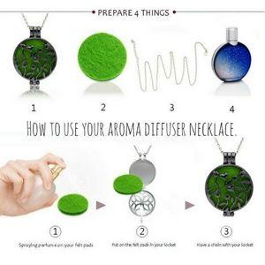 WickedWondersVIPBling.com Jewelry - Necklace - Aroma Diffuser Baby Love